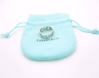 Tiffany & Co. Sterling Silver Paloma Picasso Loving Heart Ring Size 6 - Pouch