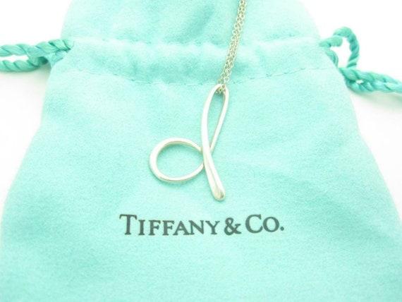 Tiffany & Co. Sterling Silver Elsa Peretti Letter