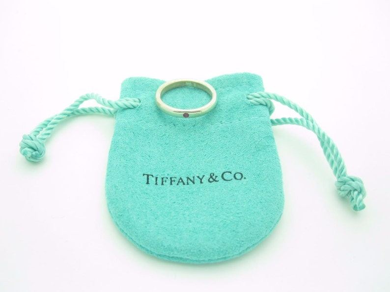 22b2ebb0c Tiffany & Co. Sterling Silver Pink Sapphire Peretti Stacking | Etsy