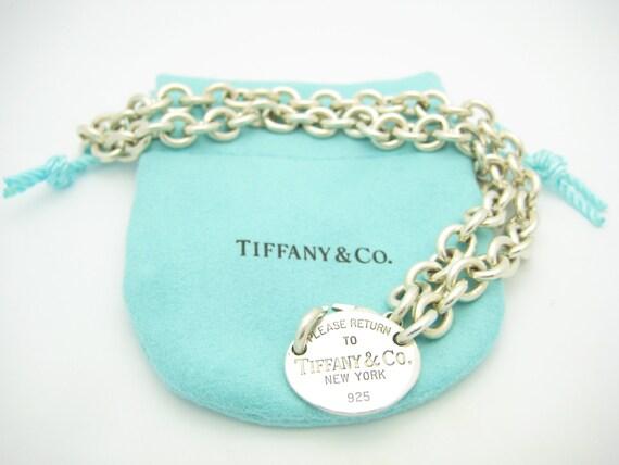 6cd4e0e239218 Please Return To Tiffany   Co. Sterling Silver Oval Tag Choker