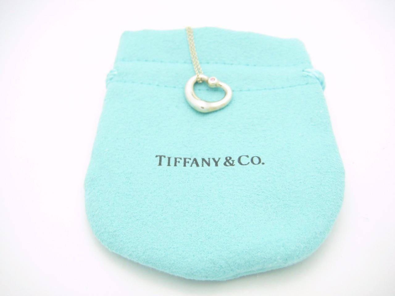 ff7a47a03 Tiffany & Co. Peretti Silver Small Open Heart Pink Sapphire | Etsy