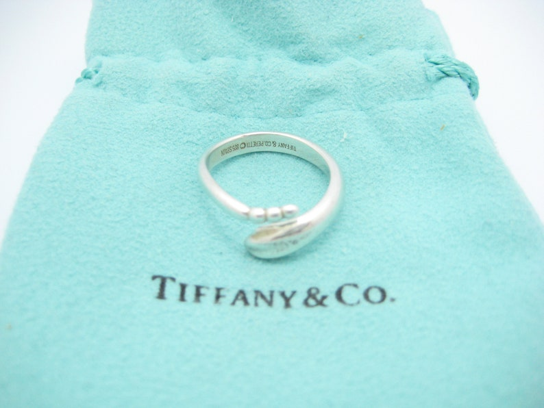 4daa9dbc093db Tiffany & Co. Sterling Silver Elsa Peretti Snake Band Ring Size 7 - Pouch