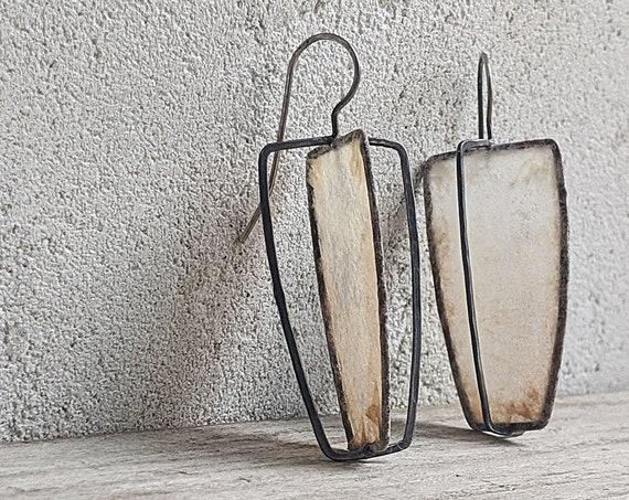 Coffee Filter Earrings Modern Art Earrings