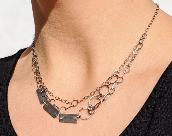 Silver Chain Choker Punk Chain Necklace
