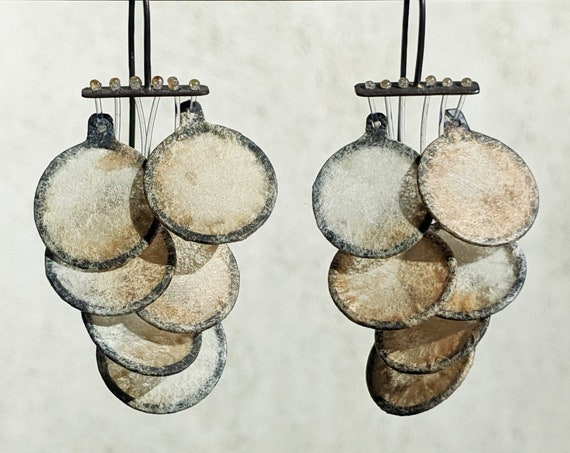 Abstract Statement Earrings, Dangly Sculptural Earrings