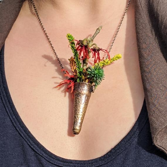 Boutonniere Necklace, Bouqet Necklace