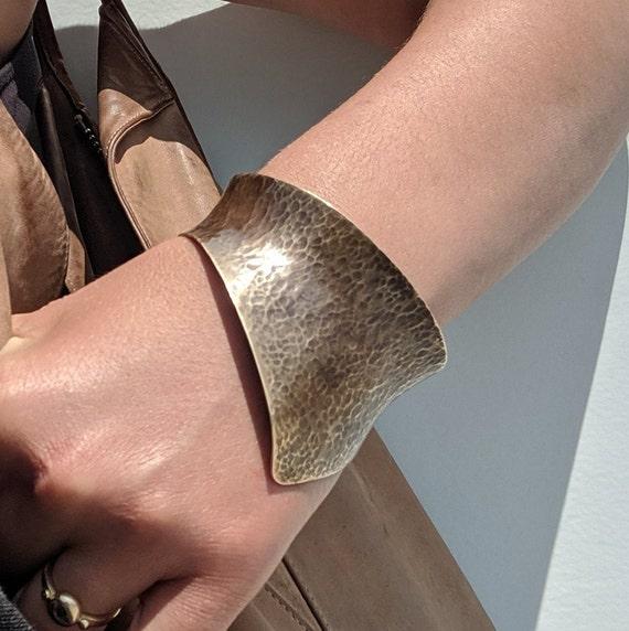 Eowyn Cuff, Chunky Brass Statement Cuff Bracelet