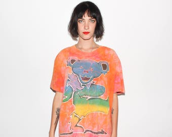 1995 Grateful Dead Dancing Bear Tie Dye Tour T Shirt