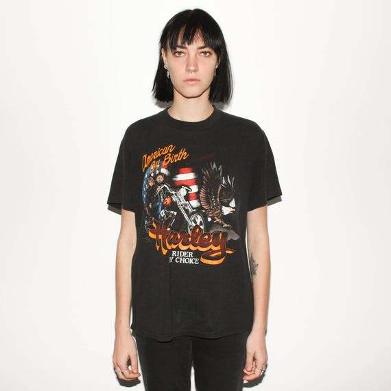 80s By American Choice Harley Birth By Rider Shirt T ZXXdqrwx
