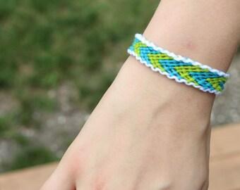Custom Made Border-Chevron Friendship Bracelet