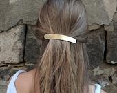 Geometric hair clip metal hair clip rectangle brass hair accessories silver hair barrette minimalist hair jewelry for her copper hair clip