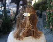 Brass hair clip brass jewelry minimalist accessories hair accessory geometric jewelry silver hair barrette copper hair jewelry for her