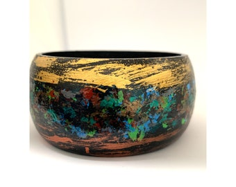 Hand-painted wooden bangle!