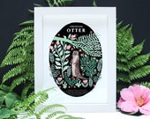 Otter Natural History - A4 or A3 Artists Print