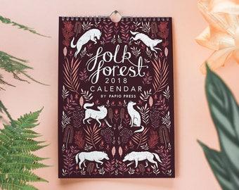 2018 Folk Wald Wandkalender