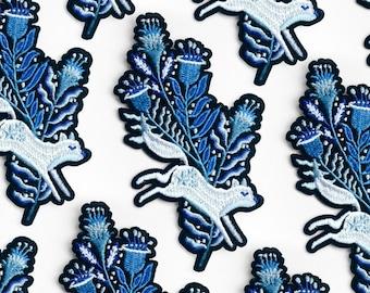 0f16fb0c57f69 Woodland Wonder Fox Embroidered Beanie    Blue Foxy Wooly