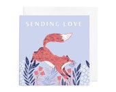 Greetings Card - Sending Love Fox Greetings Card