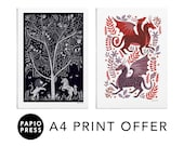 Any Two A4 Prints Gift Set