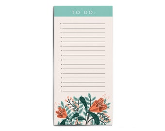 Floral Illustrated To Do List Pad