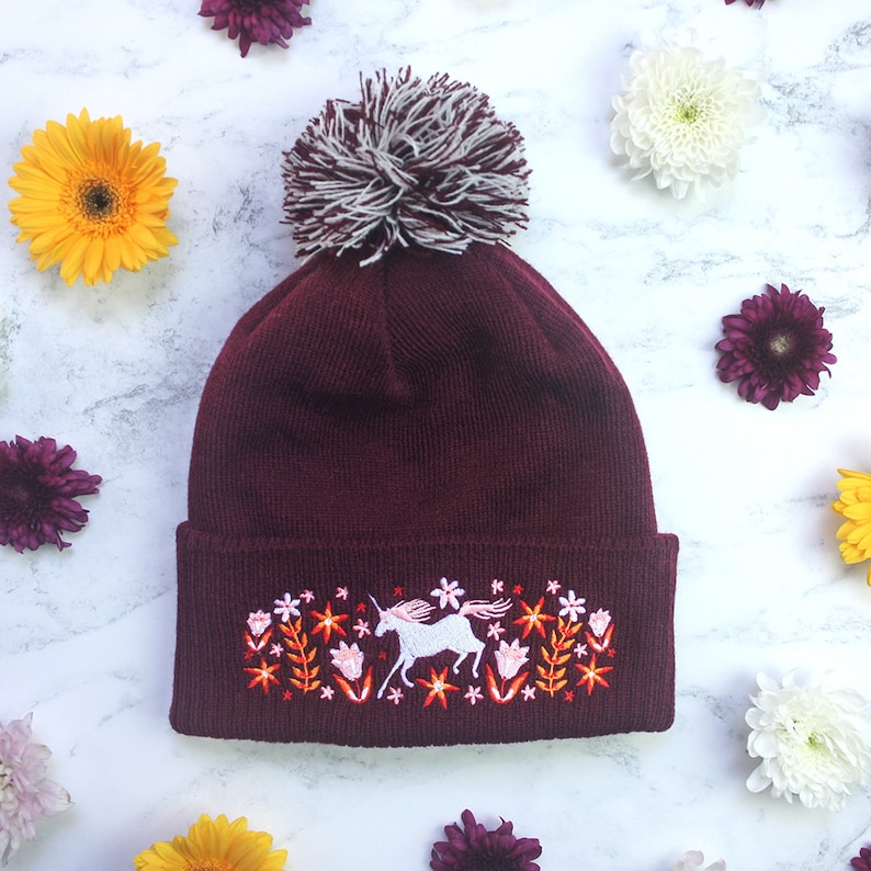 98f040670440e Multi Embroidered Beanie Listing    Two or Three Wooly Winter