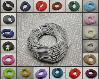 21 colors option ZN29 cowhide string thread necklace bracelet bag rope 92 meters 2mm diameter round genuine real leather lacing cord