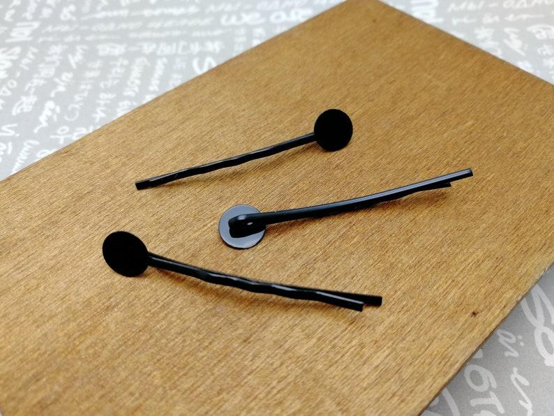 hair pin headband head band barrette clip comb accessory 200pcs 45mm length metal bobby pin with 8mm glue pad 4 colors option AH47