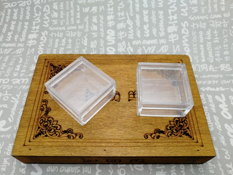 AB53 jewelry bead ring earring tool wedding party gift display storage box 20pcs 30x30x17mm square shape clear plastic acrylic resin box