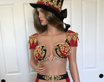 Sexy Ringleader Costume, Steam Punk Costume, Ringleader Outfit, Burning Man Outfit, Circus Performer, Halloween Co