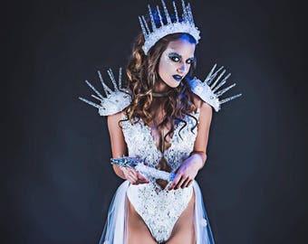 Ice Queen Costume, Sexy Ice Queen, Snow Princess, Ice Queen Crown, Fitness Theme Wear, Fitness Bikini