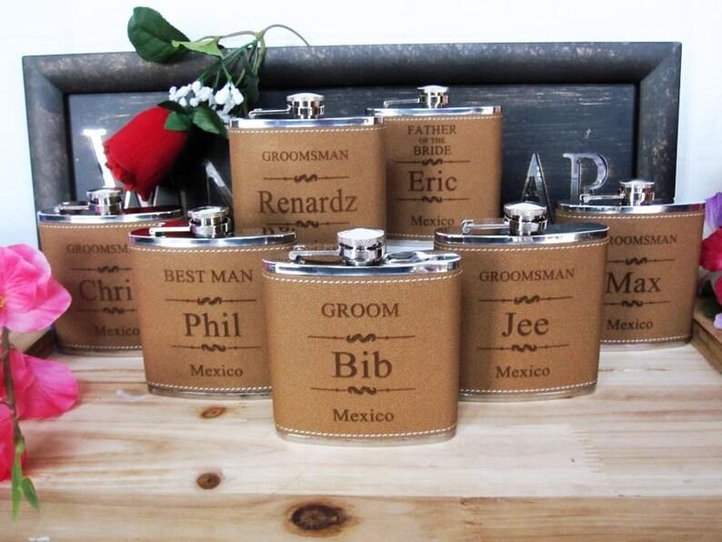 Groomsman Flask Groomsment Gifts Wedding Gift Ideas For Etsy