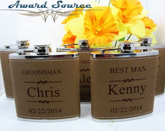 Set of 7 Personalized Flask