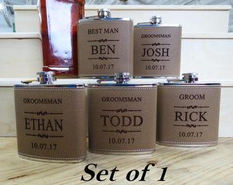 Flask Gift for Groomsmen, Flasks for Men, Flasks for Women, Custom Groomsmen Gifts, Rustic Wedding
