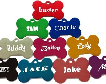 Personalized Dog Tag, Custom Made with your Pets Name w/phone number, Gift for Dog Owner, Gift for Cat Owner, Pet ID Tags, Bone Shaped