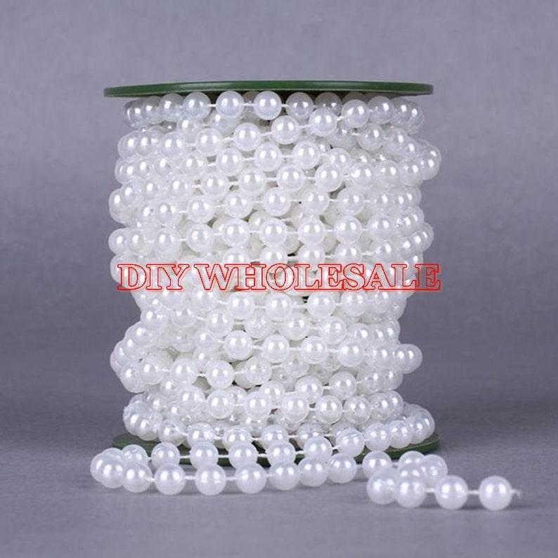 20Meter Beads String Garland Wedding Centerpiece Party DIY Decor Craft White