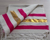 Pretty pink and Gold stri...