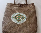 Sweet straw tote with Eth...