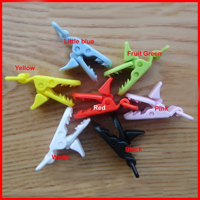 12 color mixed 500pcs Hot D shape Kam Plastic Clip for 20mm ribbon plastic Pacifier clip Dummy Clip Suspender Clip