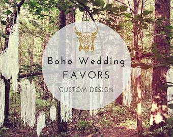 Dreamcatchers Wedding Favors - Boho Wedding Favours - Bohemian Decoration - Rustic Favours - Unique Wedding Favors - Boho Decoration
