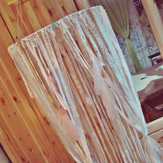 Gypsy Bett Baldachin Boho Krippe Baldachin Vorhänge Spitze | Etsy