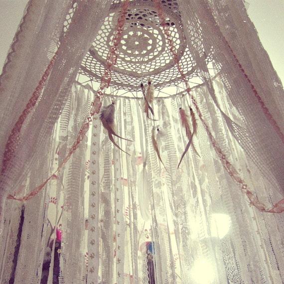 Bed Crown Canopy Crib Crown Nursery Design Wall Decor: Boho Bed Crown Baby Crib Canopy Gypsy Nursery Decor
