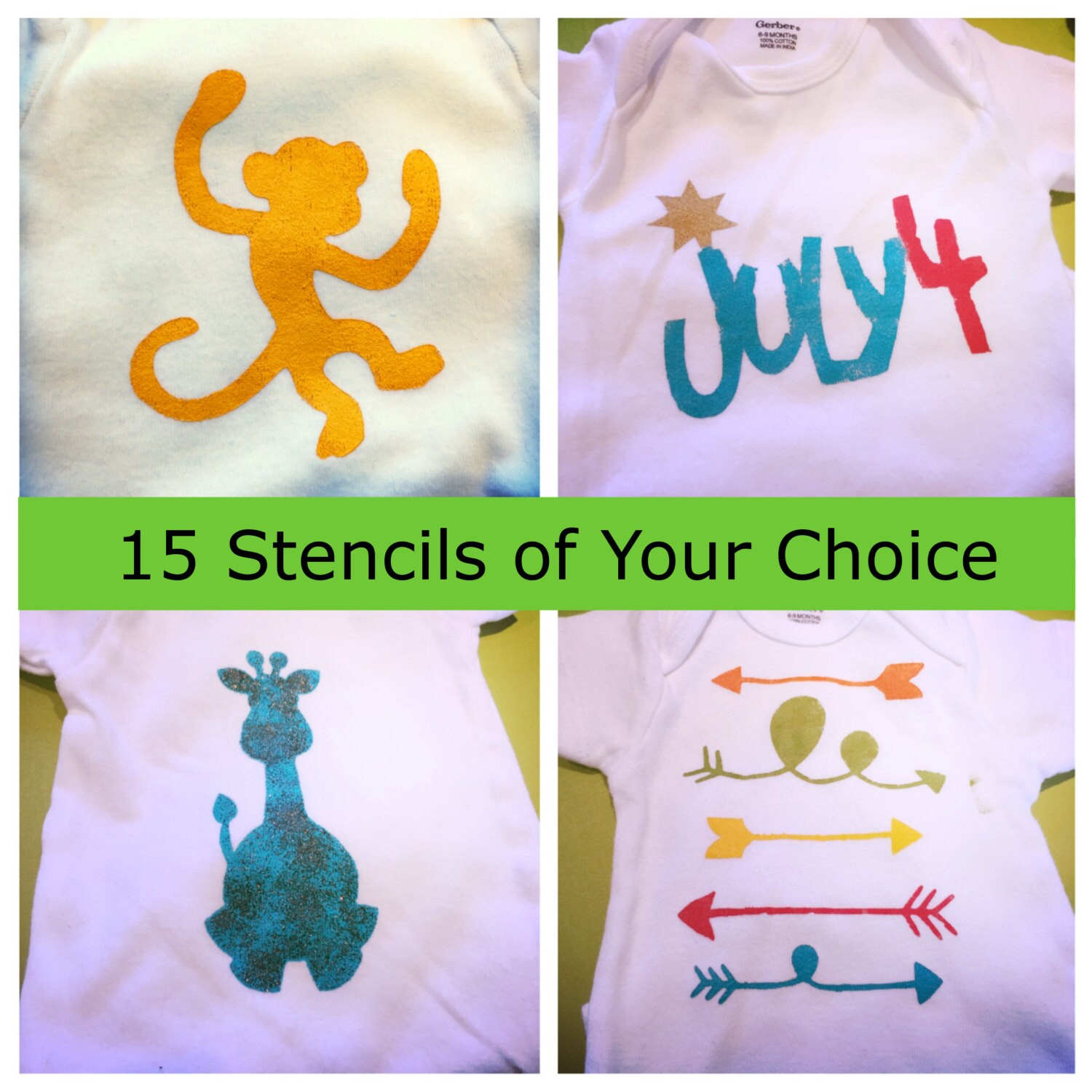15 Stencils Of Your Choice Custom Stencil Set Create Your Etsy