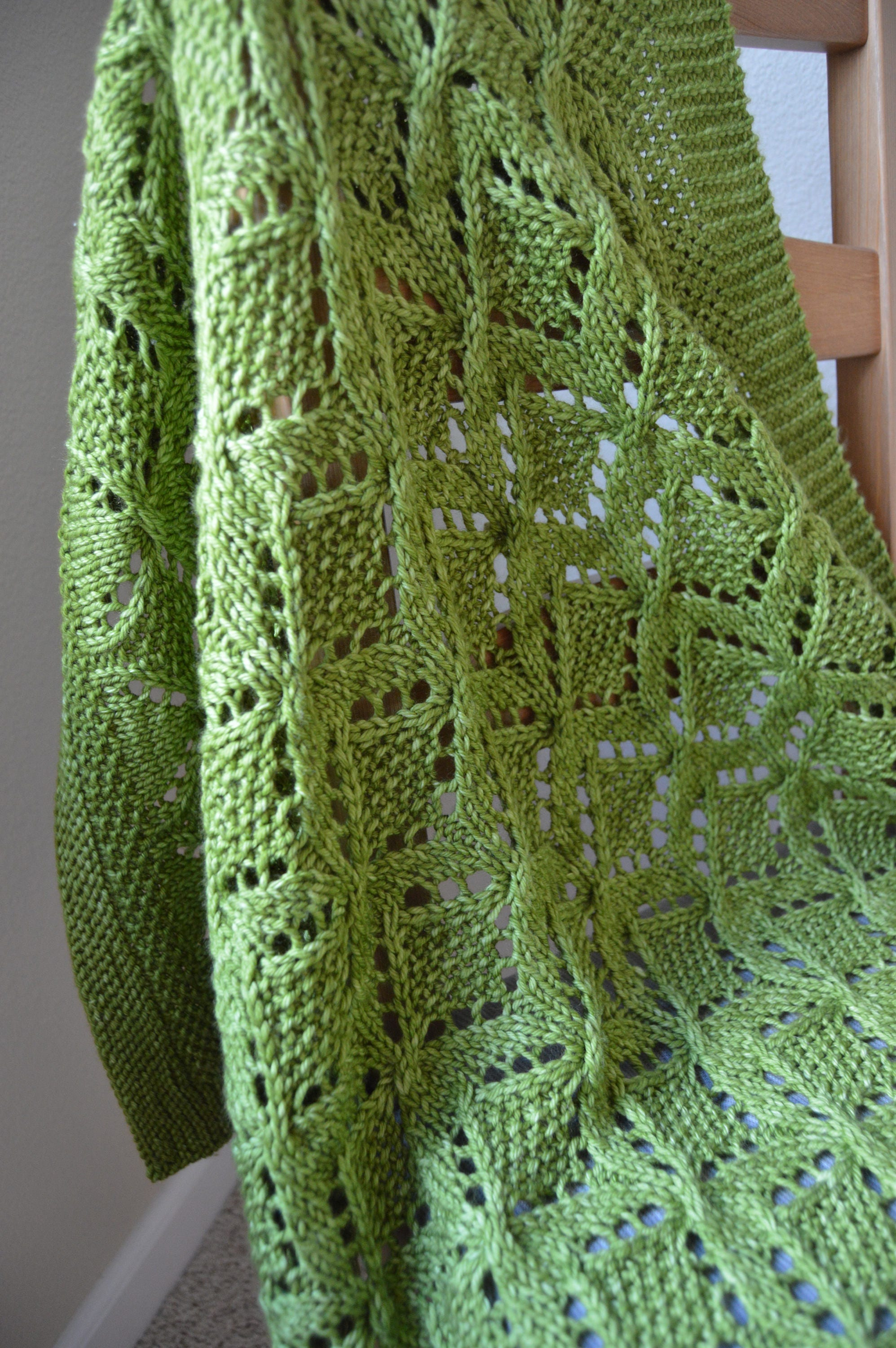 Pattern To Knit Lace Baby Blanket Worsted Yarn
