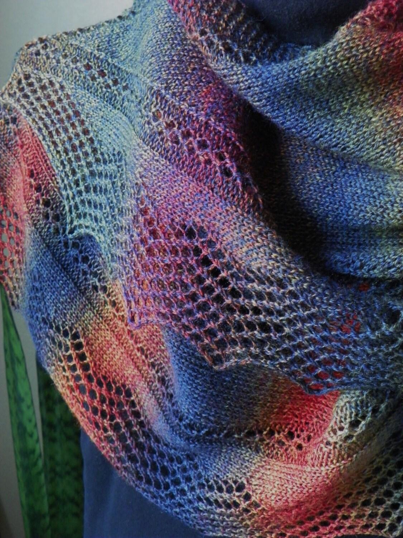 Wrap Scarf Knitting Pattern Juneau Nights Fingering Yarn