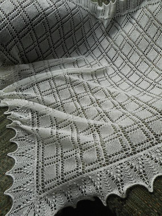 Estonian Lace Shawl Knitting Pattern Veritys Shawl Etsy