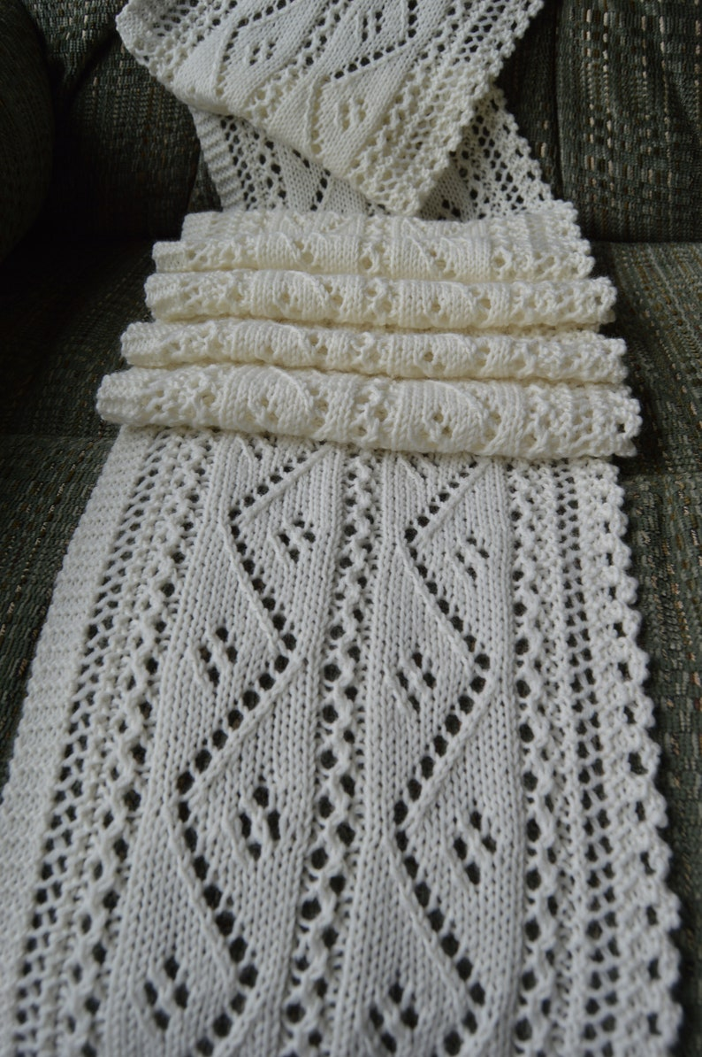 Knitting Pattern For Lace Scarf Zigging And Etsy
