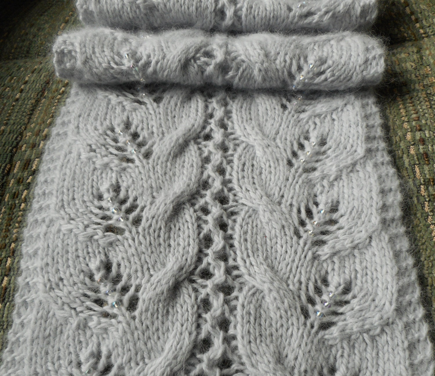 Pattern to Knit Lace and Cable Scarf \