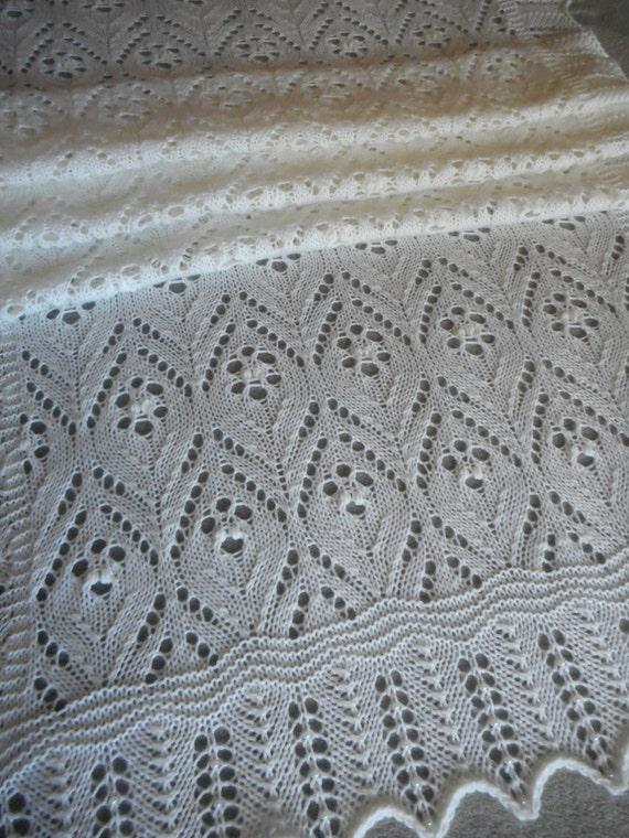 Pattern To Knit Estonian Lace Shawl Fingering Weight Yarn Etsy