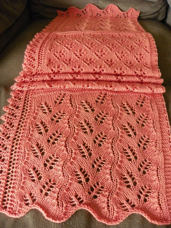 Pattern To Knit Lace Scarf An Amiable Lace Scarf Etsy