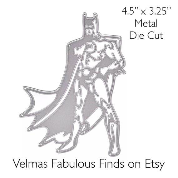Batman Super Hero Metal Craft Die Craft Cutting Die | Etsy
