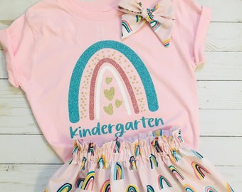 Kindergarten outfit, back to school, girls school outfit, first day of school